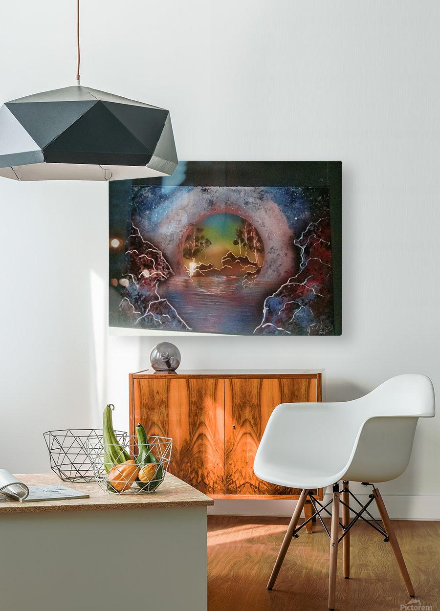Fantasy World  HD Metal print with Floating Frame on Back