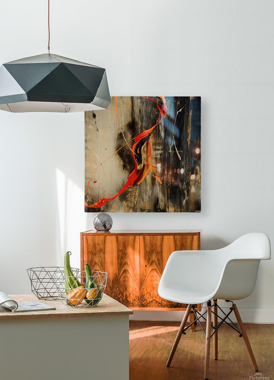 2841 - safe n sound  HD Metal print with Floating Frame on Back