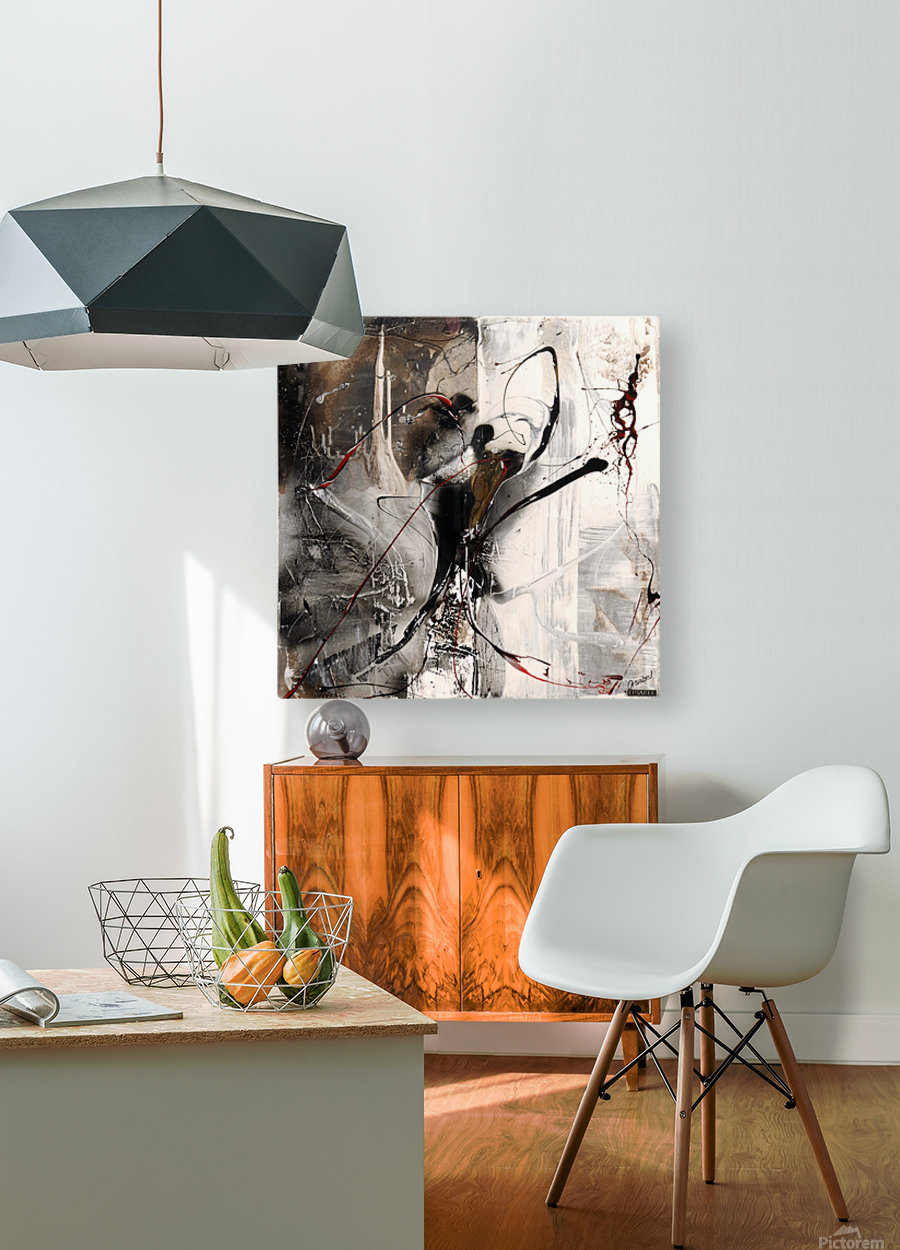 3396 stare at the window  HD Metal print with Floating Frame on Back