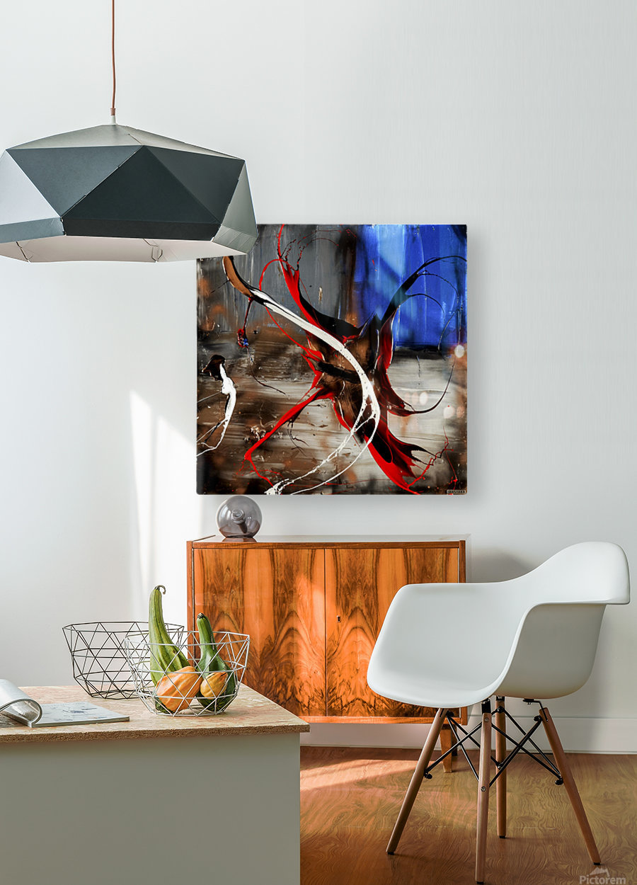 2818 - caught up  HD Metal print with Floating Frame on Back