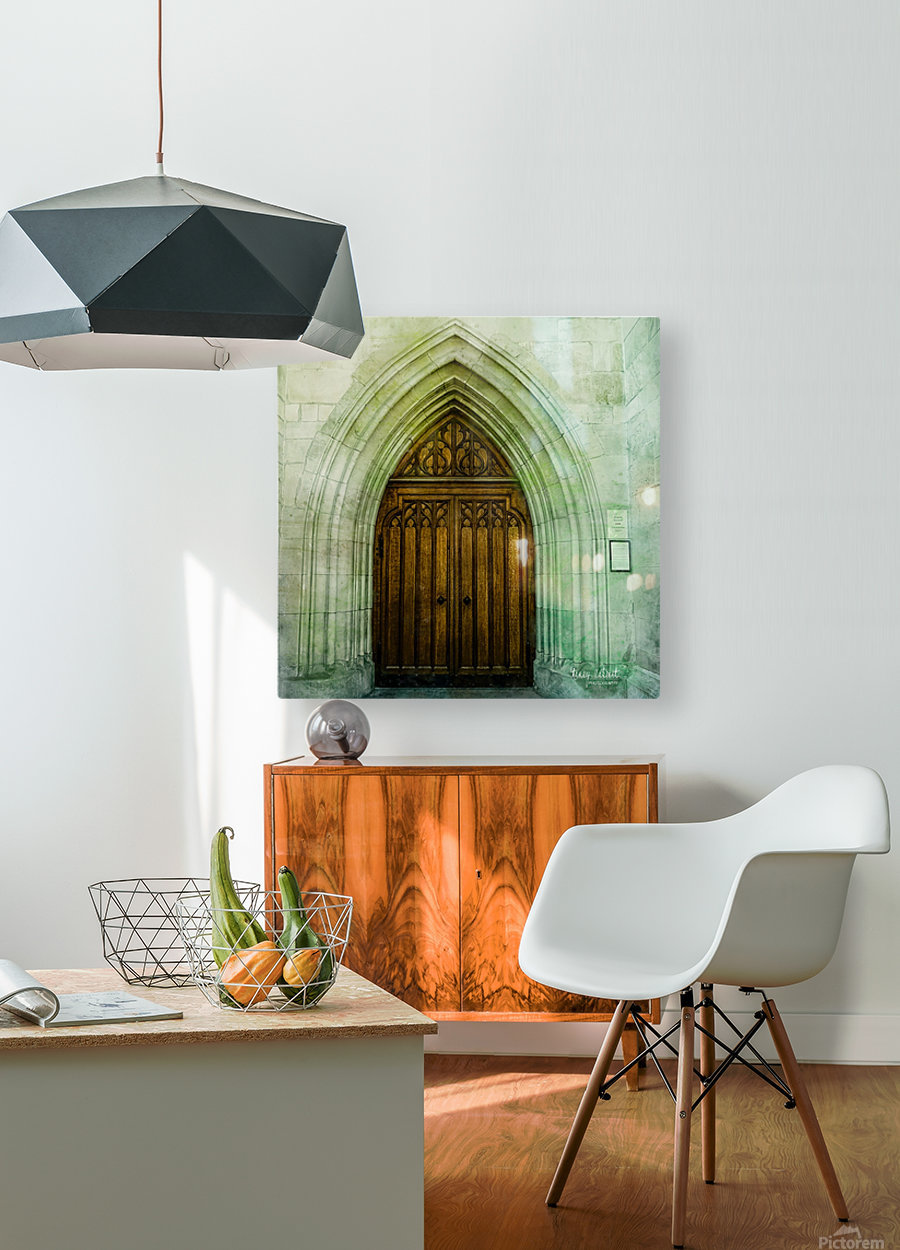 ZURICH CATHEDRAL DOOR  HD Metal print with Floating Frame on Back