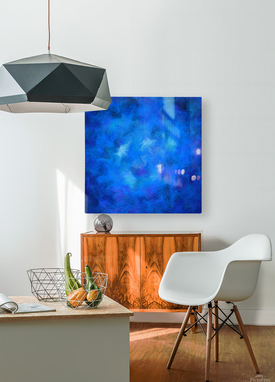 Denitamessa - deep blue world  HD Metal print with Floating Frame on Back