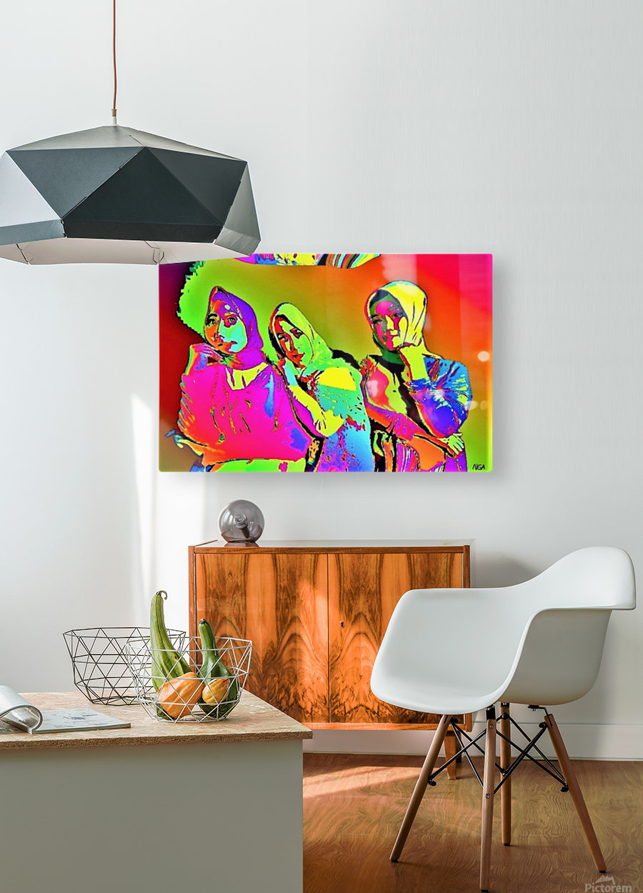 Three Friends - by Neil Gairn Adams  HD Metal print with Floating Frame on Back
