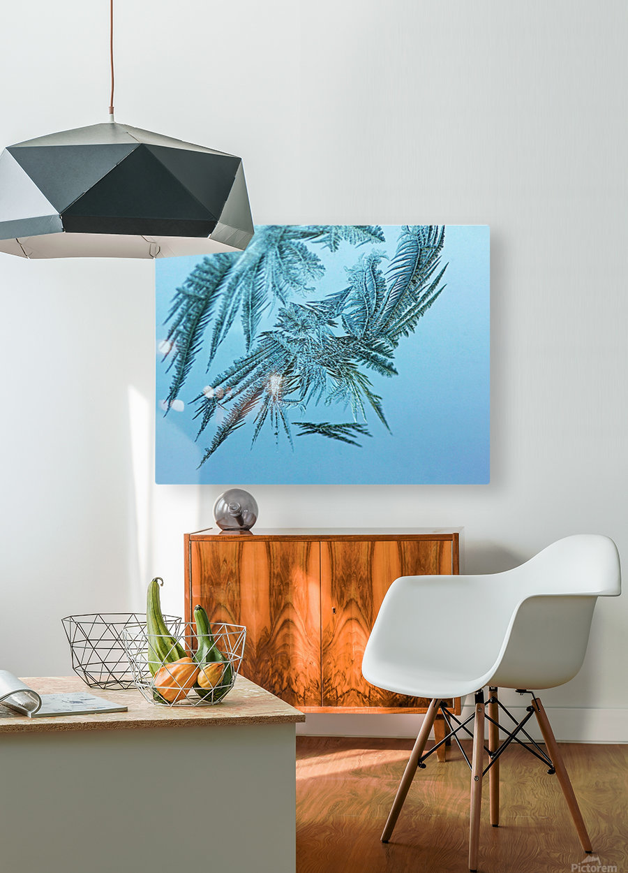 Frosty Blue  HD Metal print with Floating Frame on Back