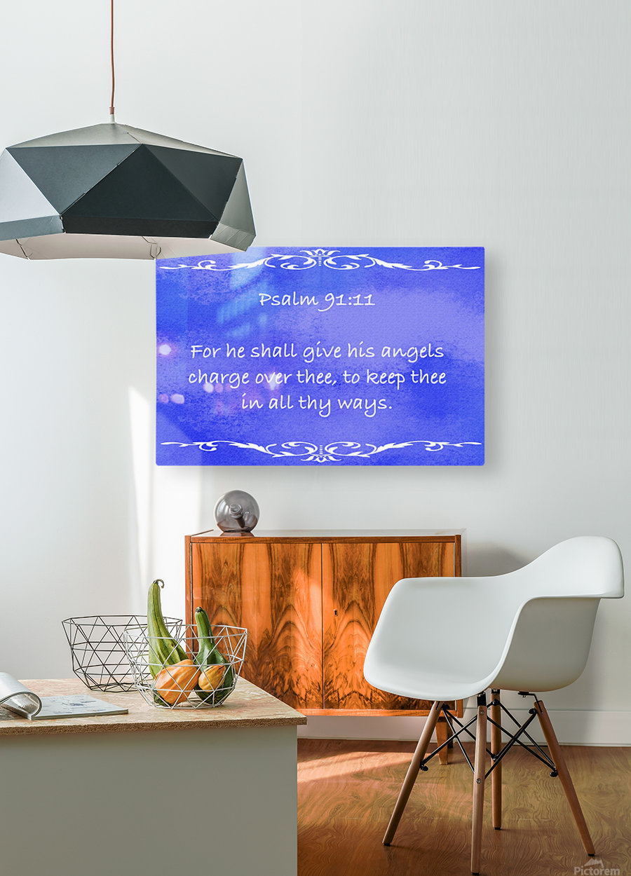 Psalm 91 11 3BL  HD Metal print with Floating Frame on Back