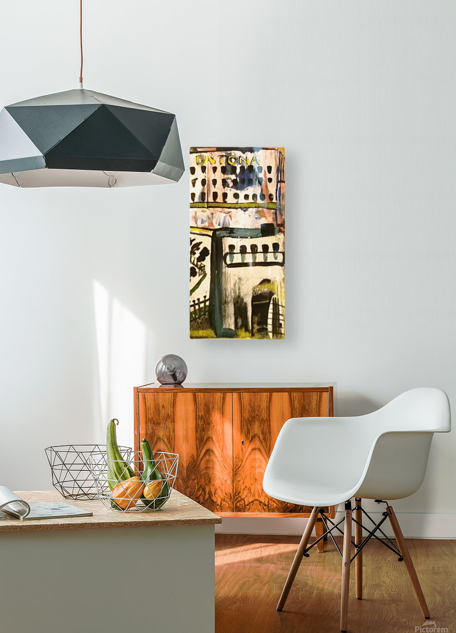 0 25  HD Metal print with Floating Frame on Back