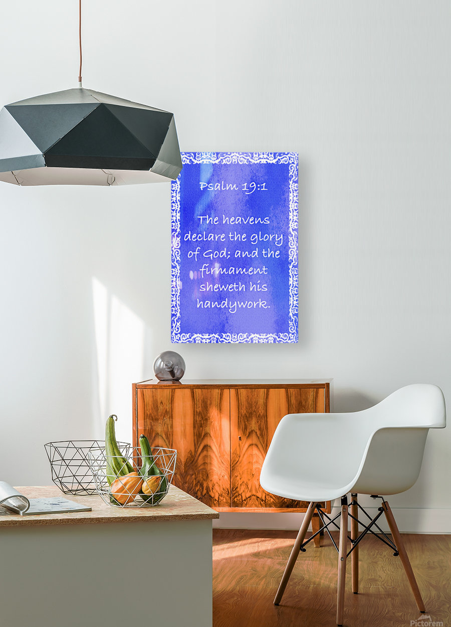 Psalm 19 1 10BL  HD Metal print with Floating Frame on Back