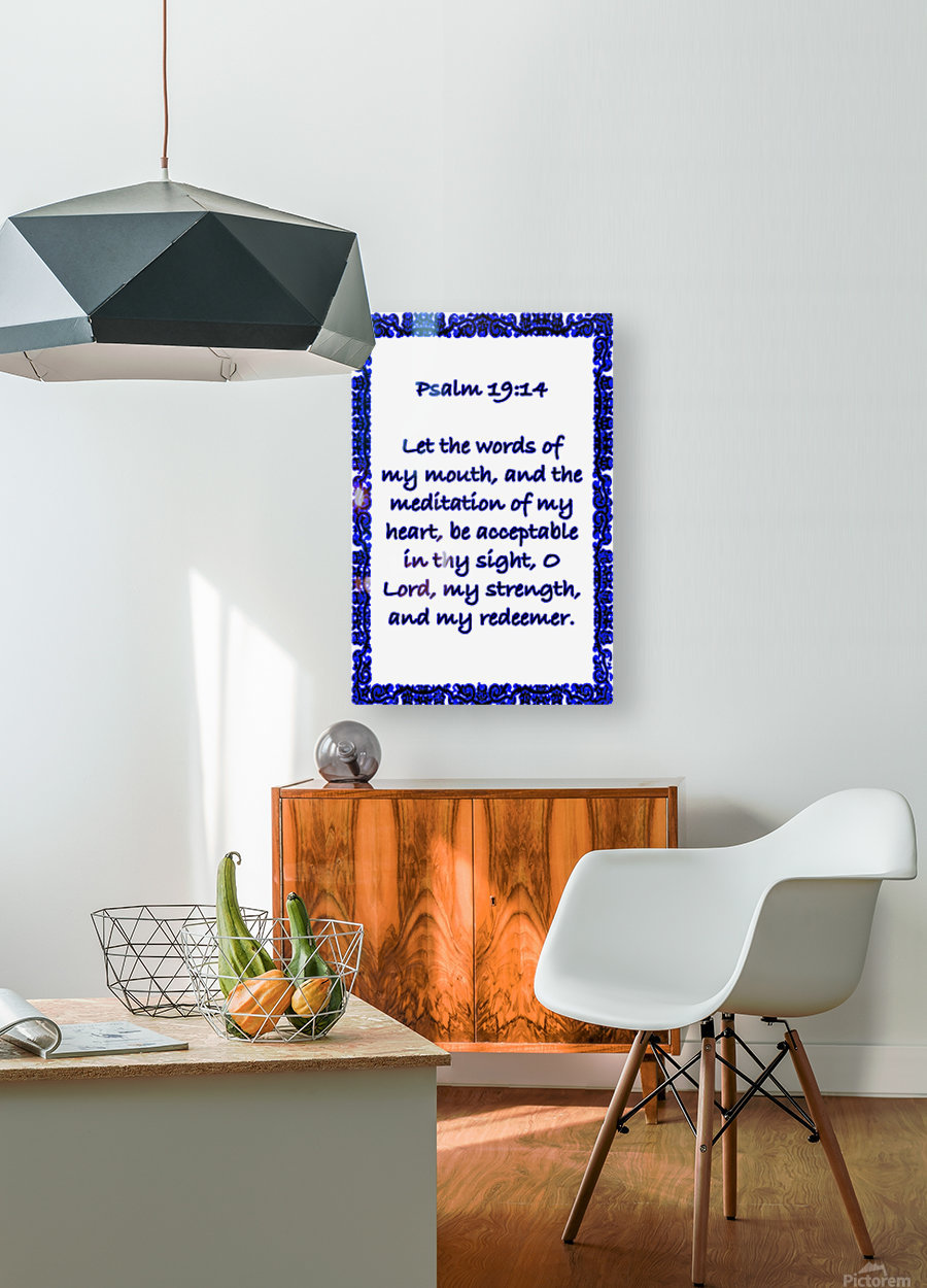 Psalm 19 14 10WBL  HD Metal print with Floating Frame on Back