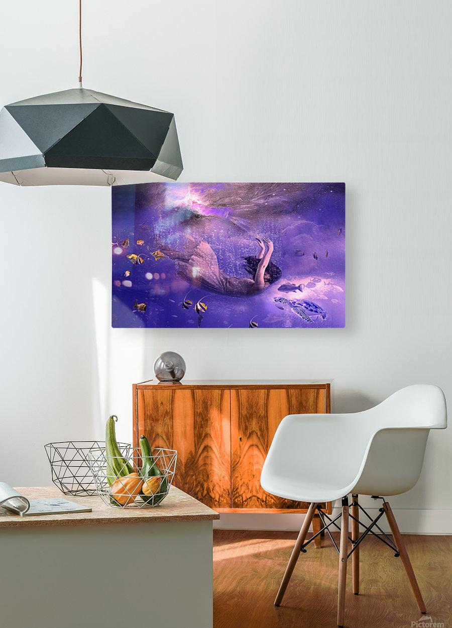 Deep relax  Impression métal HD avec cadre flottant sur le dos