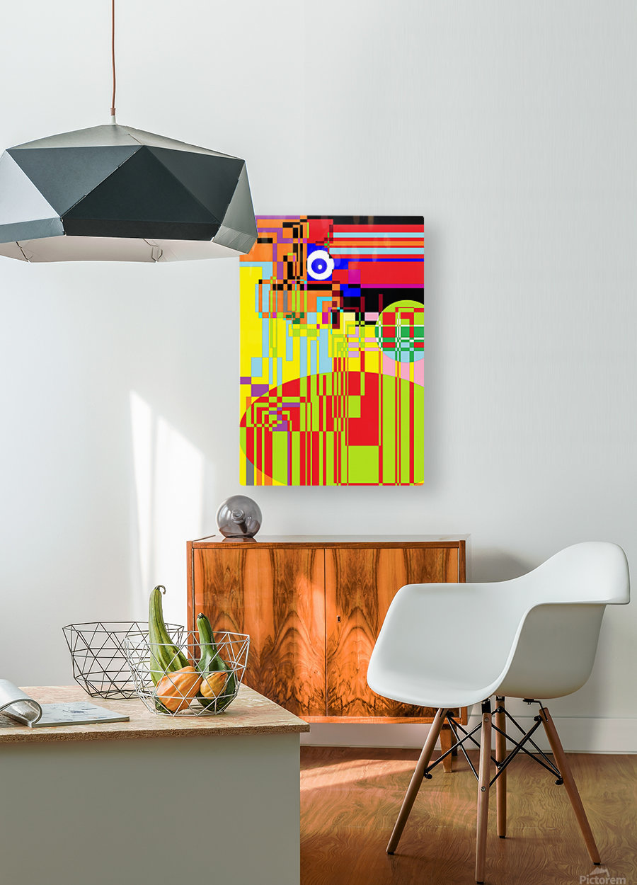 Funny Computer  HD Metal print with Floating Frame on Back