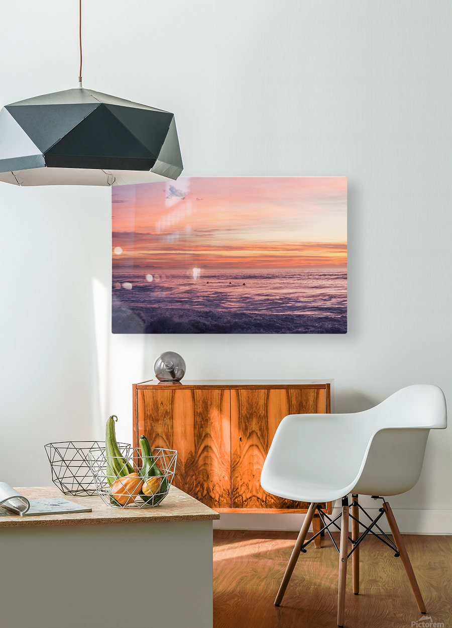 HOSSEGOR MAGIC  HD Metal print with Floating Frame on Back