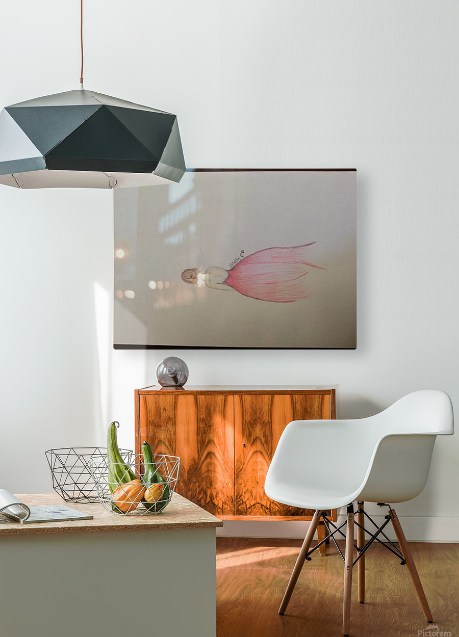 Chiffron  HD Metal print with Floating Frame on Back