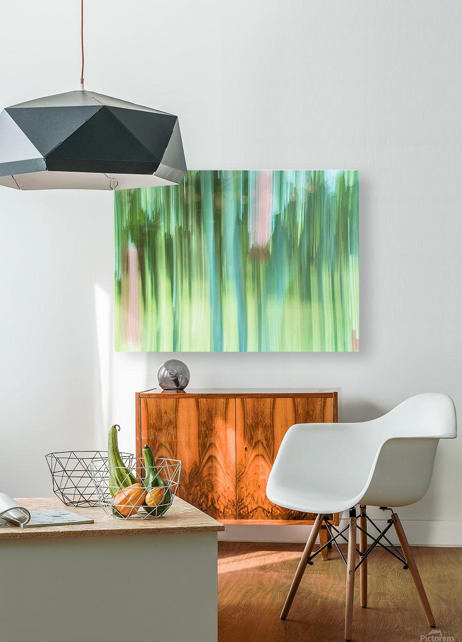 Moving Trees 04 Landscape 52-70  HD Metal print with Floating Frame on Back