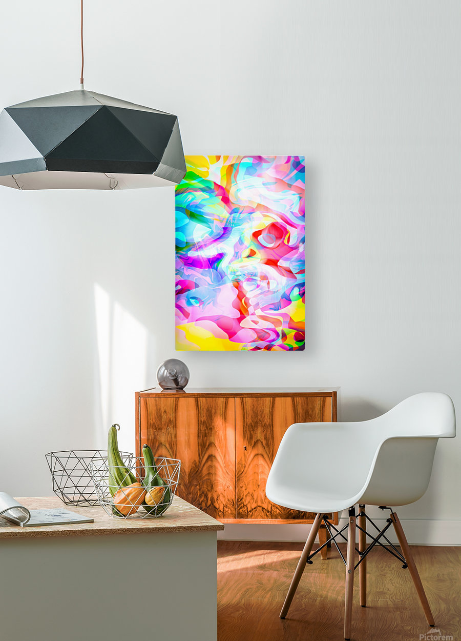 VIVID Abstraction I  HD Metal print with Floating Frame on Back