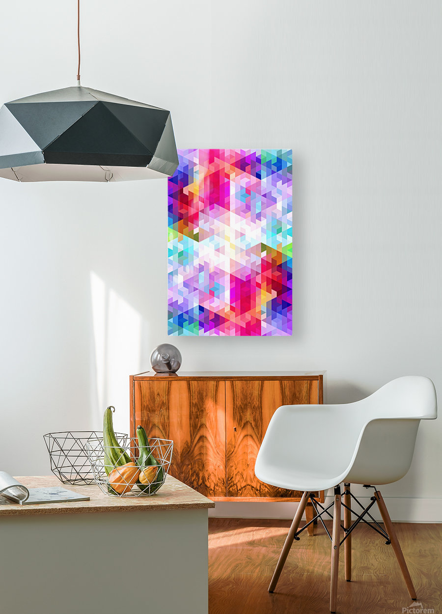 VIVID PATTERN VIII  HD Metal print with Floating Frame on Back