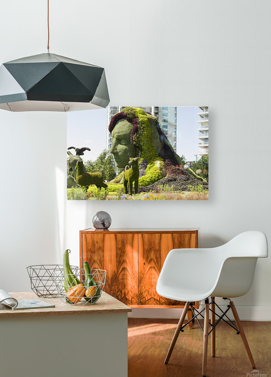 Mother Earth The Legend of Aataentsic with some of her creatures 4  HD Metal print with Floating Frame on Back