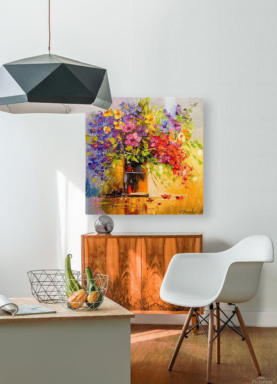 A bouquet of wild flowers  HD Metal print with Floating Frame on Back