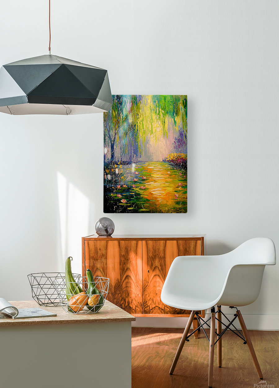 Fabulous pond  HD Metal print with Floating Frame on Back