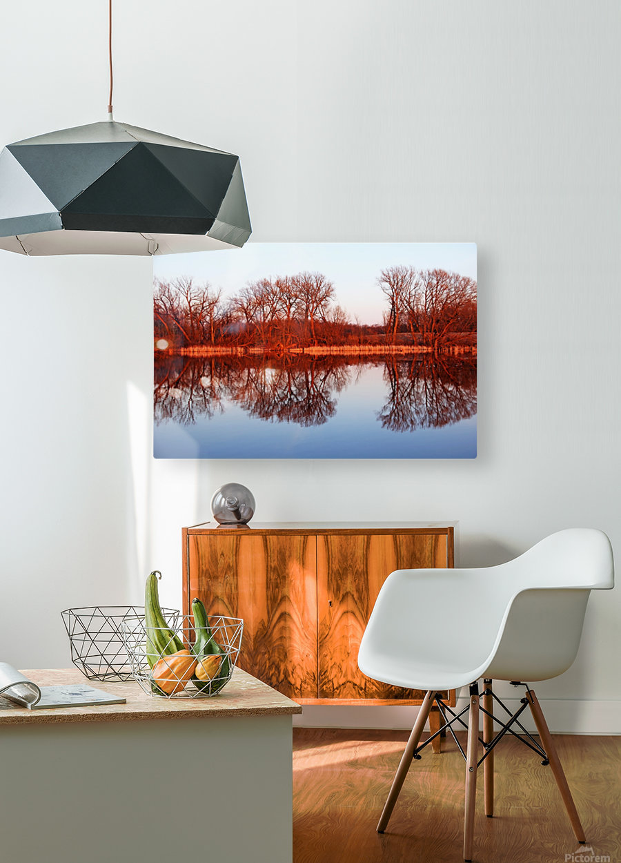 Spring Sunset Glow I  HD Metal print with Floating Frame on Back