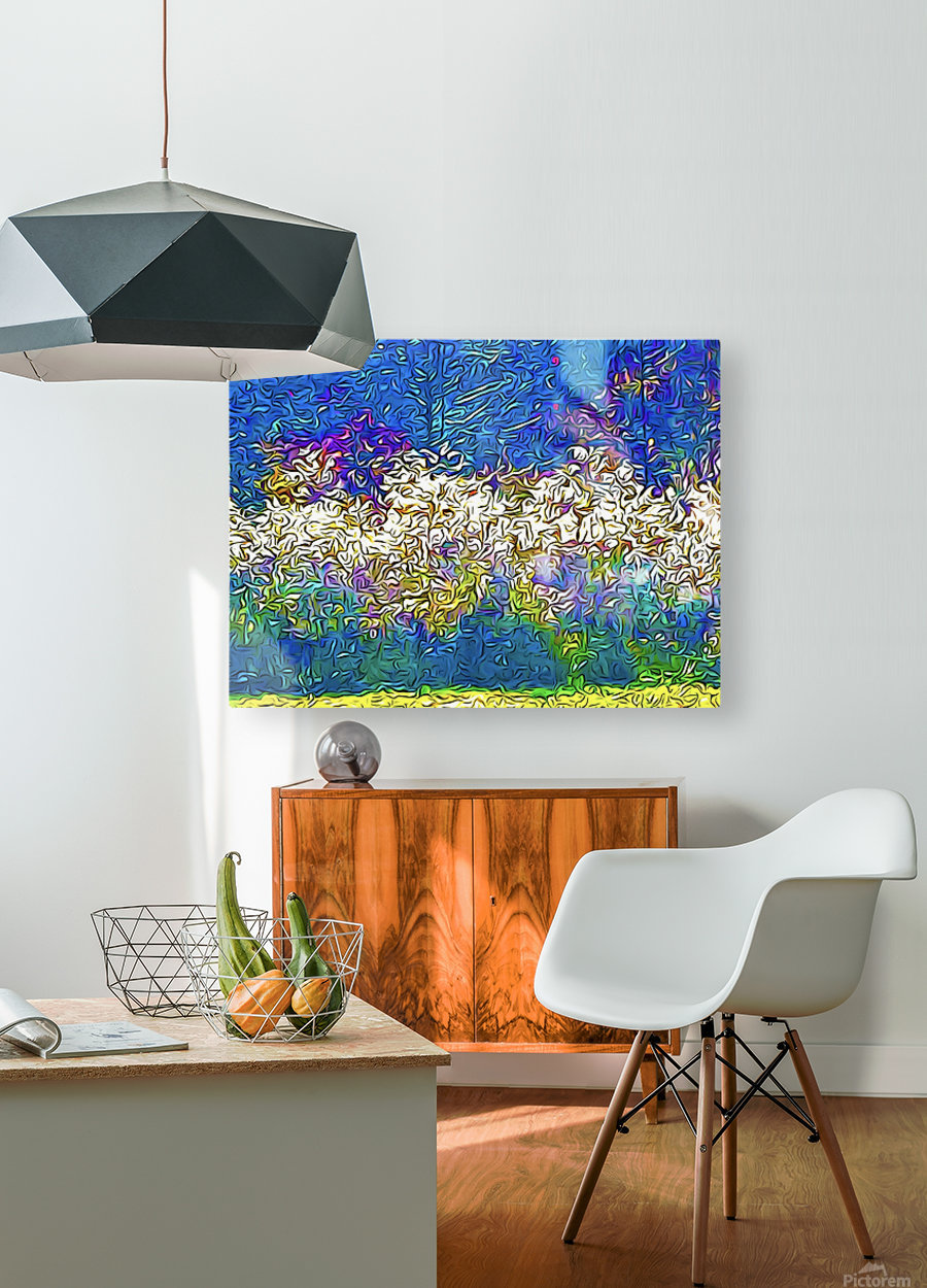 Grasses On Fire  HD Metal print with Floating Frame on Back
