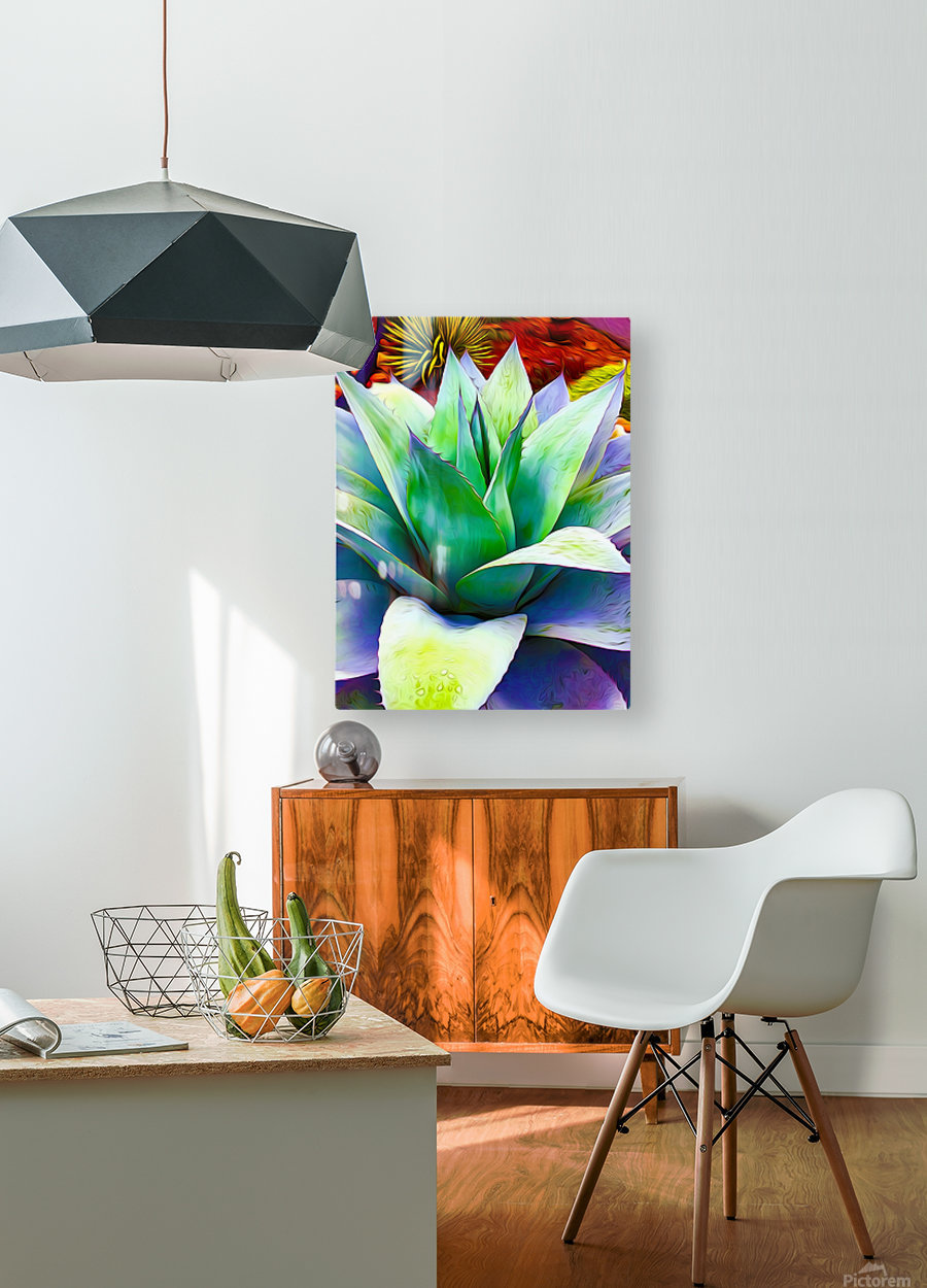 Succulent Dewdrop  HD Metal print with Floating Frame on Back