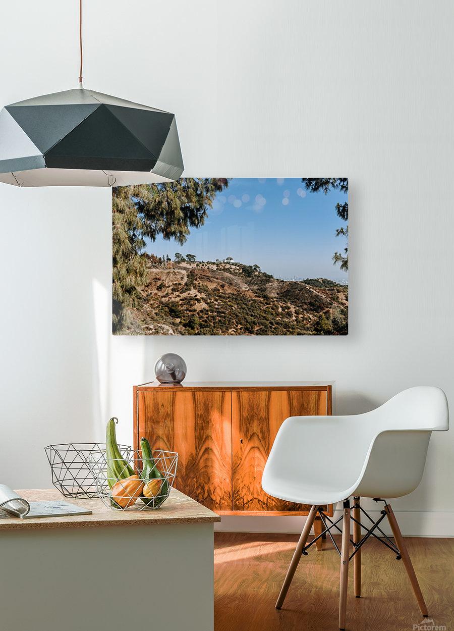 Griffith Observatory  Impression métal HD avec cadre flottant sur le dos