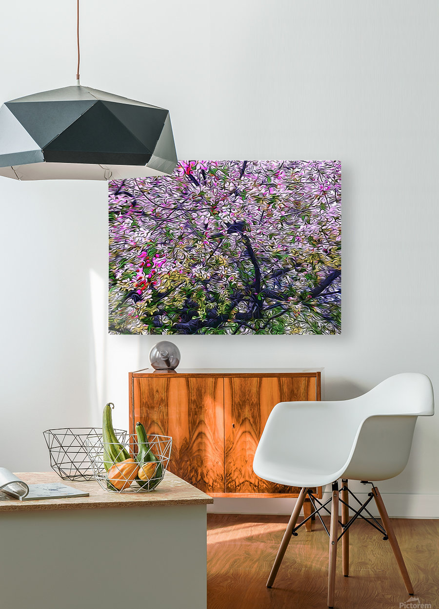 Cherry Tree  HD Metal print with Floating Frame on Back