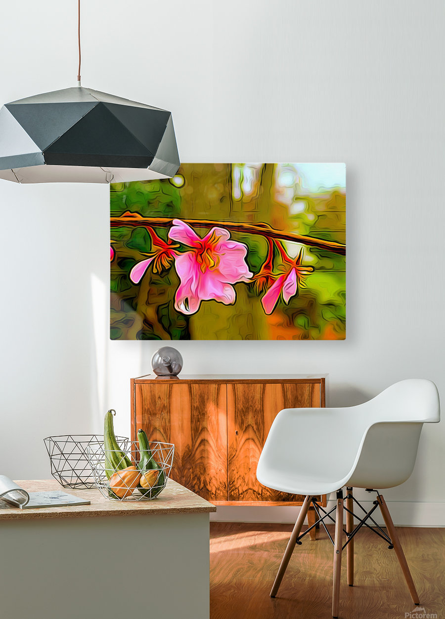 Blossom On a Limb  HD Metal print with Floating Frame on Back