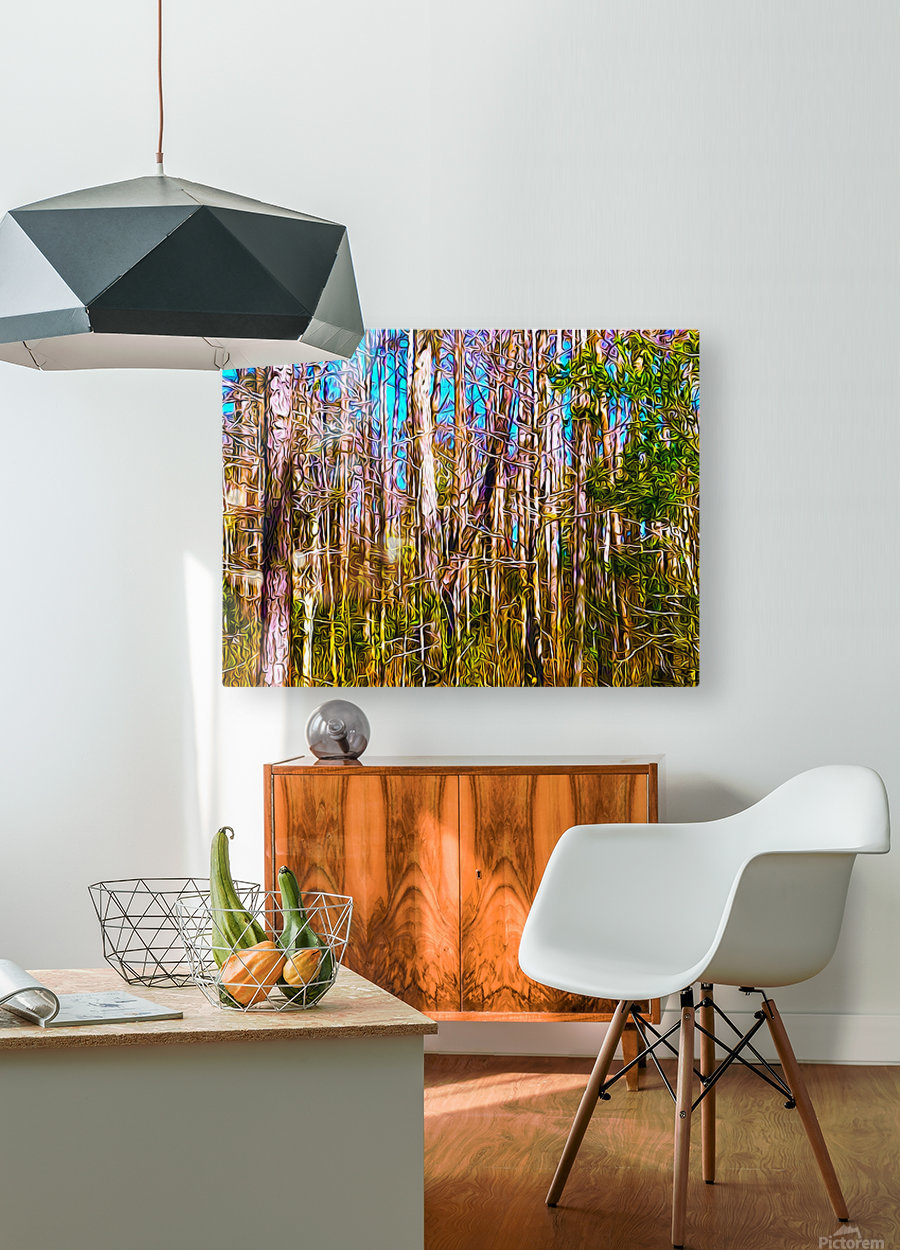 Florida Trees  HD Metal print with Floating Frame on Back