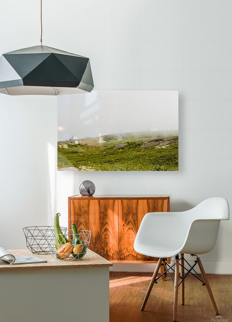 View from Cape Spear Walking trails 15  HD Metal print with Floating Frame on Back