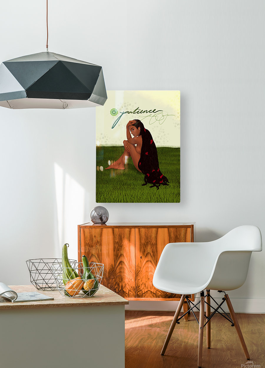 Patience  HD Metal print with Floating Frame on Back