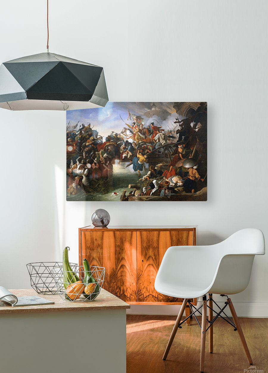 Charge from the Fortress  HD Metal print with Floating Frame on Back