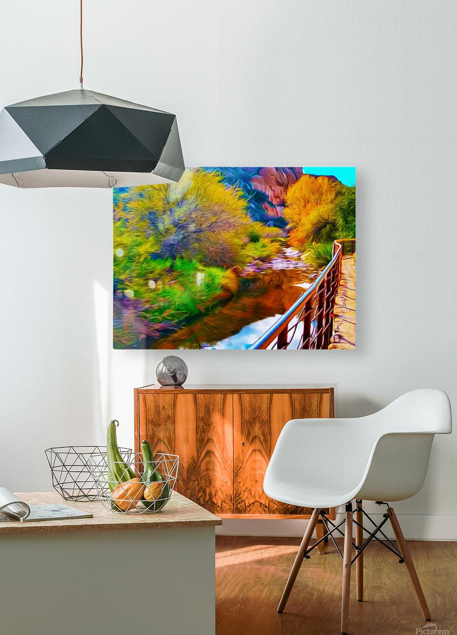Botanical Walk  HD Metal print with Floating Frame on Back