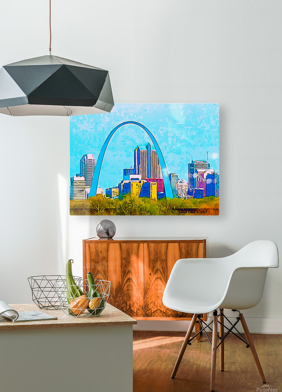 Saint Louis Arch  HD Metal print with Floating Frame on Back
