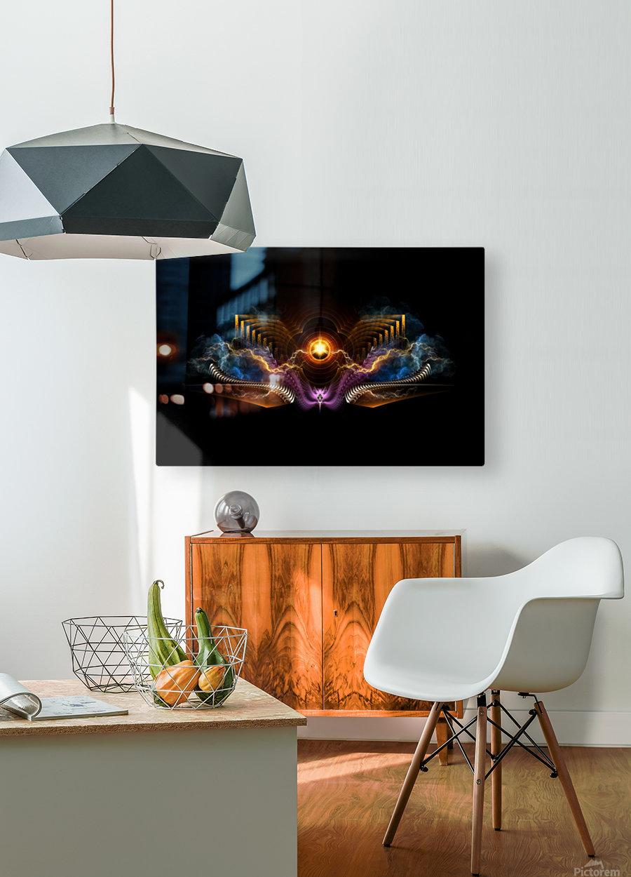 Treasure Of Night Fractal Art  HD Metal print with Floating Frame on Back