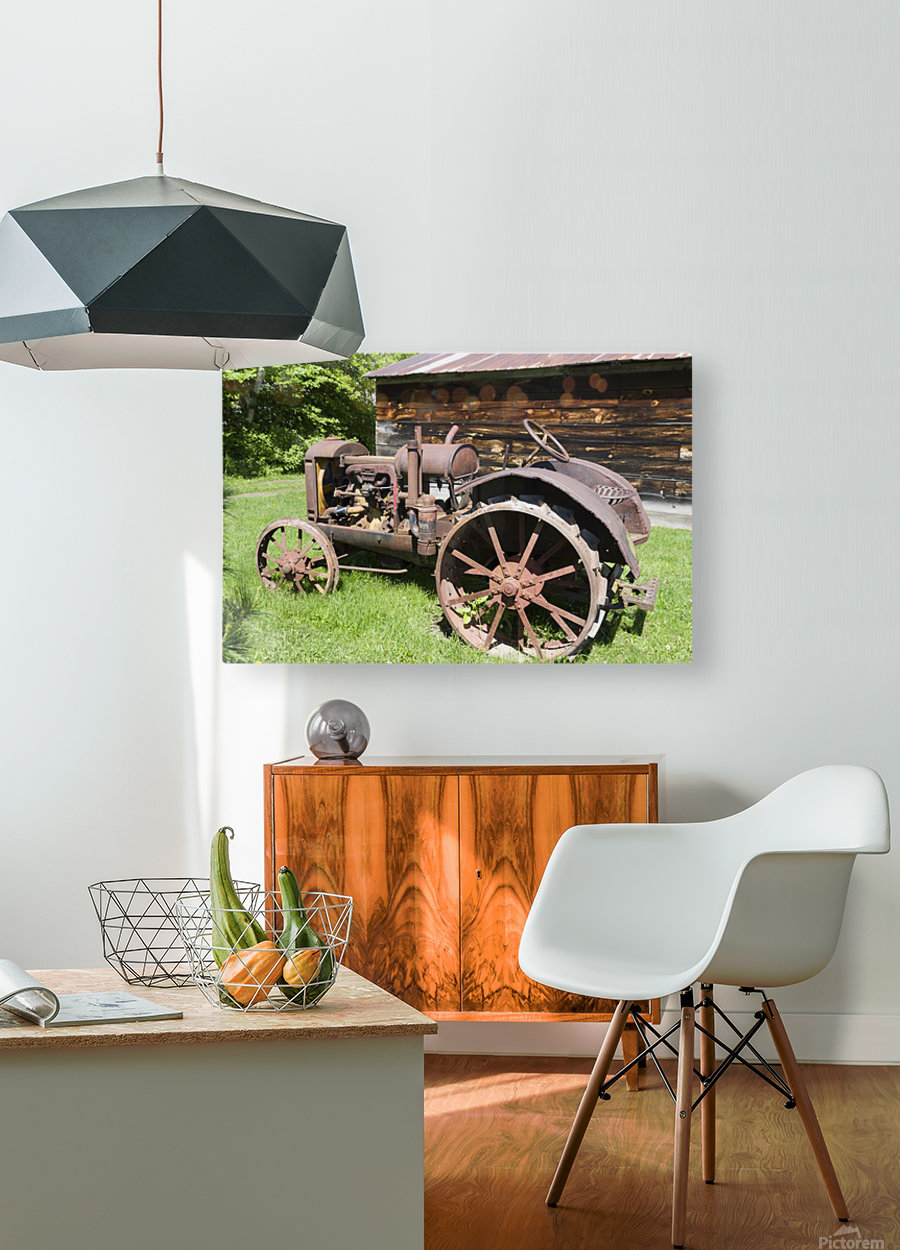 McCormick-Deering gasoline tractor 2  HD Metal print with Floating Frame on Back