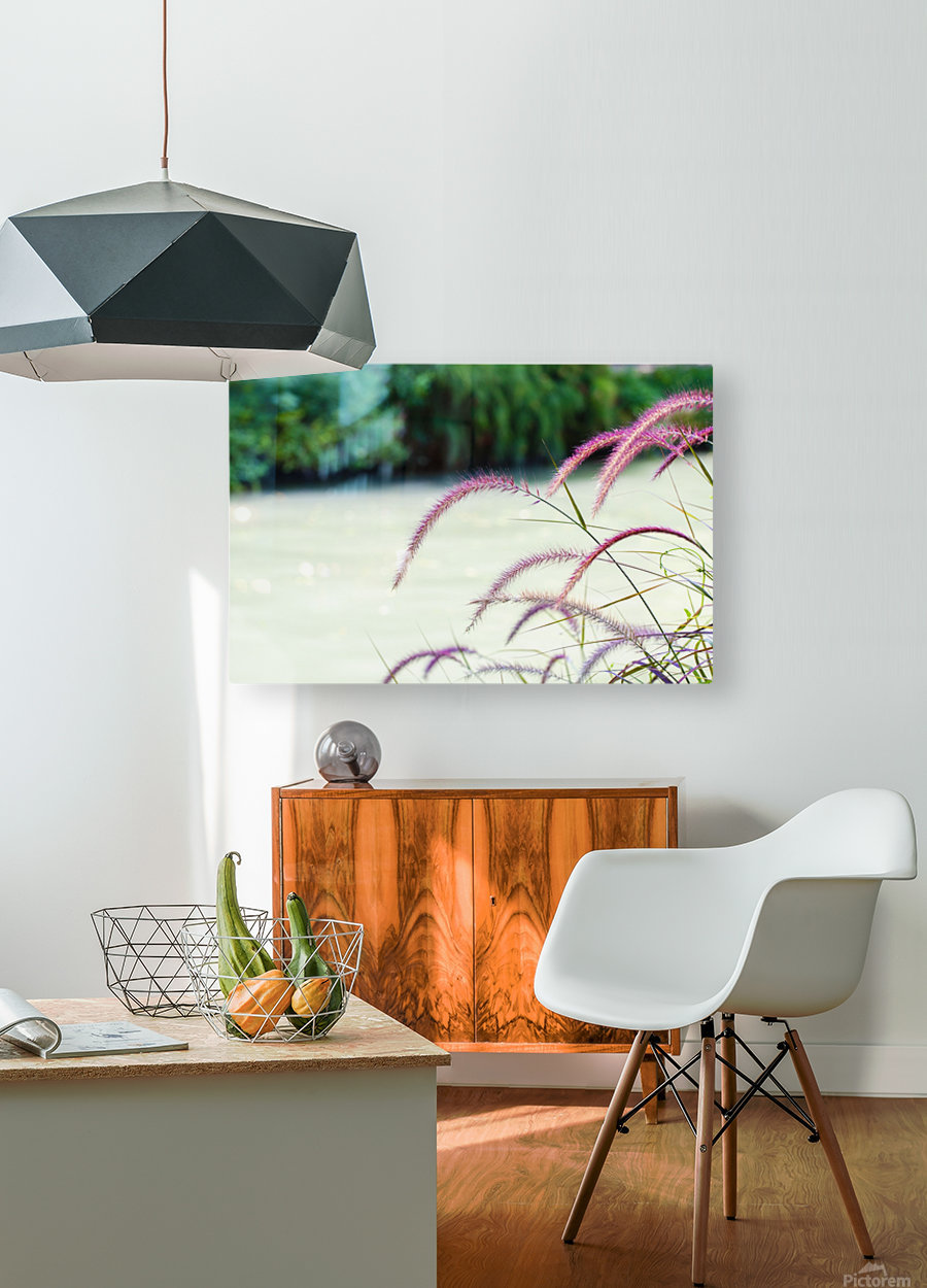 Flora  HD Metal print with Floating Frame on Back