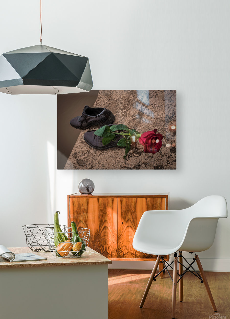 One Step   HD Metal print with Floating Frame on Back