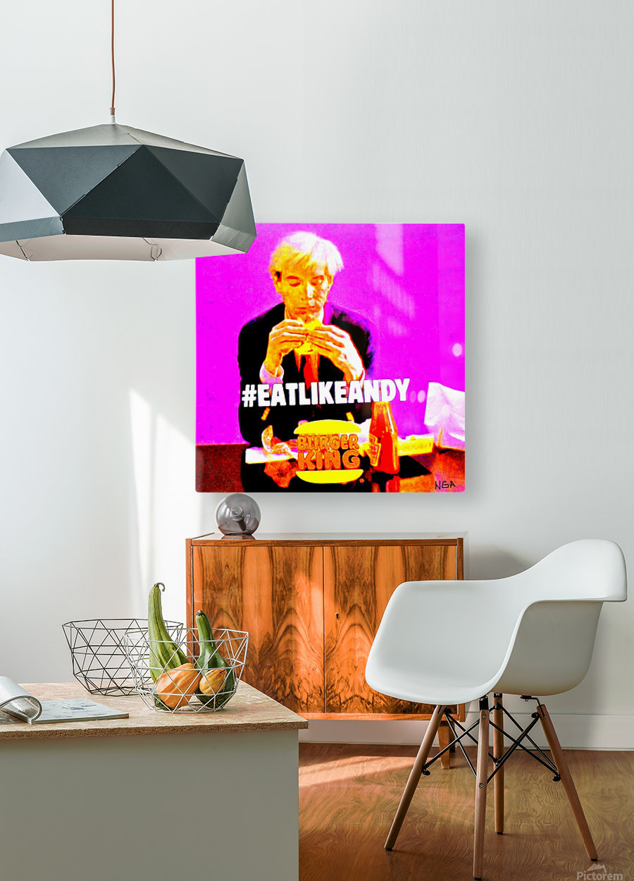 Eat like Andy -  by Neil Gairn Adams   HD Metal print with Floating Frame on Back