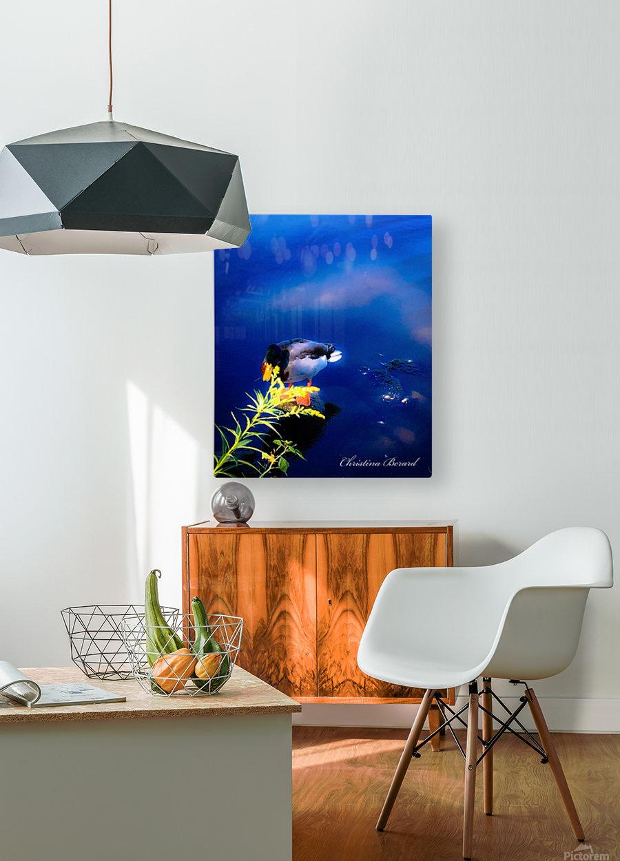 So simple Blue   Impression métal HD avec cadre flottant sur le dos