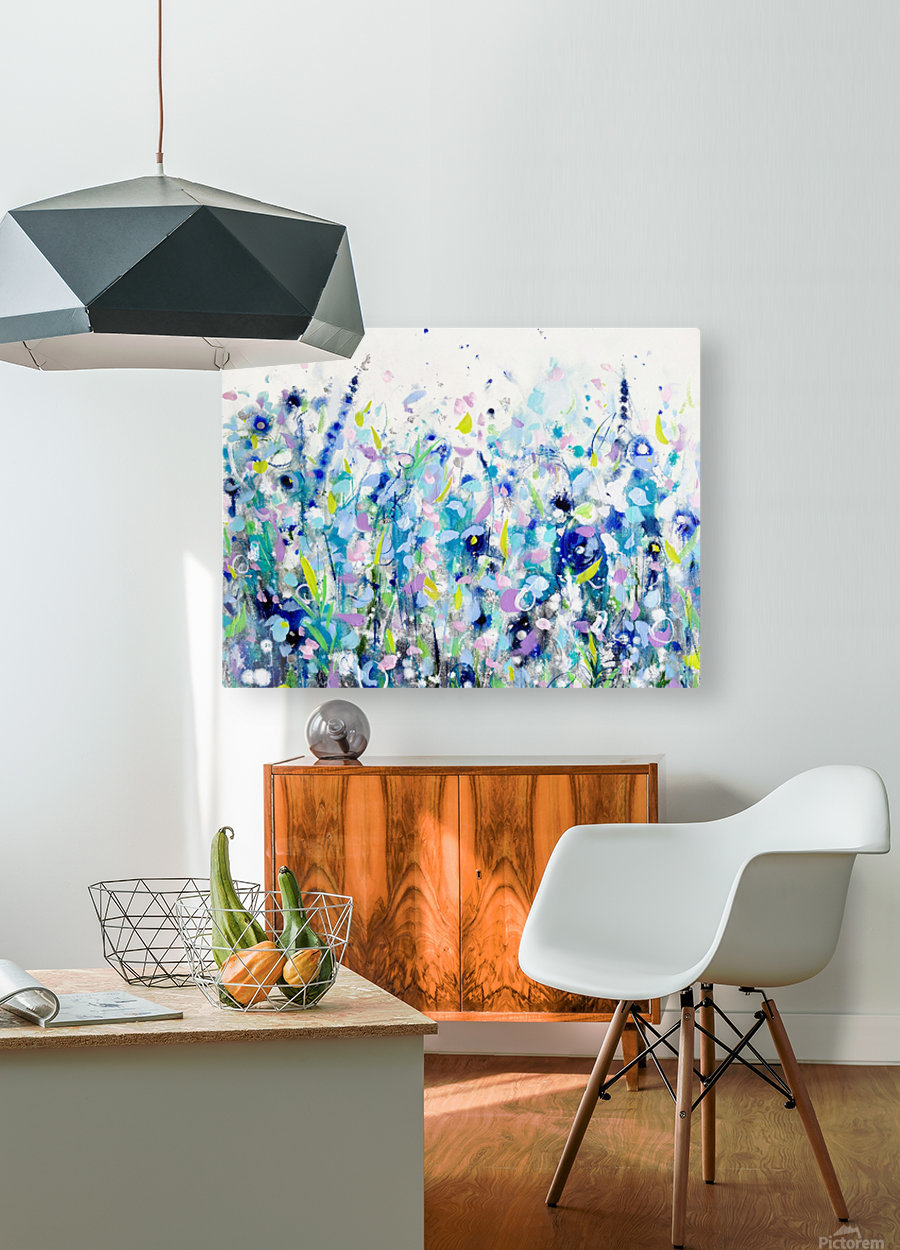 Ultramarine Meadow  HD Metal print with Floating Frame on Back