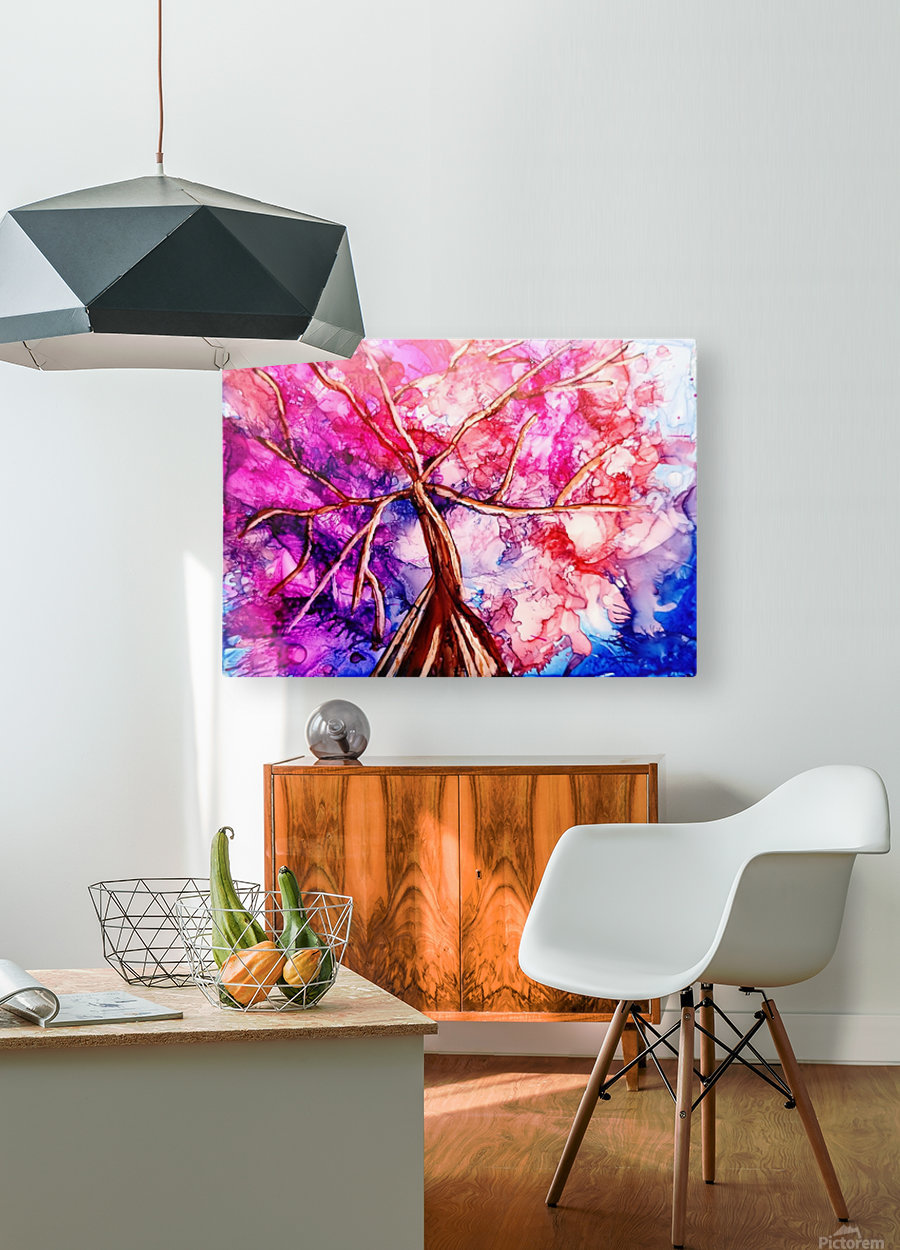 Cherry Blossom  HD Metal print with Floating Frame on Back