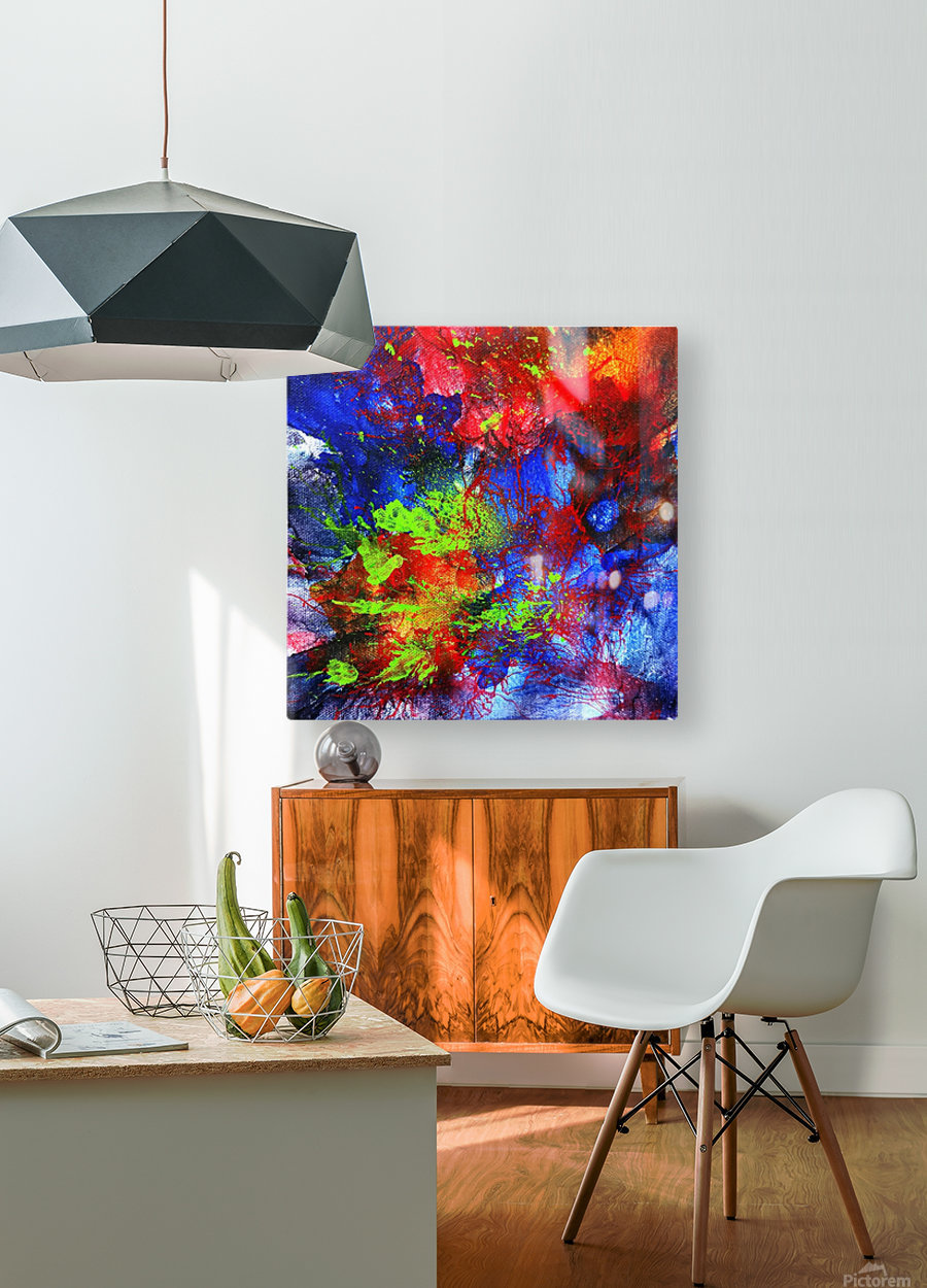 Color Explosion  HD Metal print with Floating Frame on Back