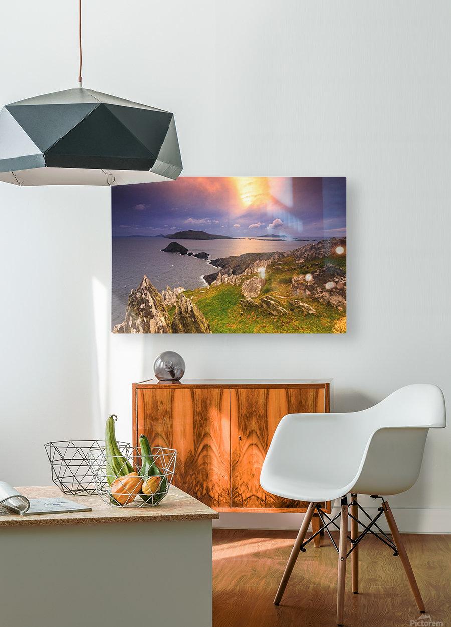 KY 602 Blasket Island Sunset  HD Metal print with Floating Frame on Back