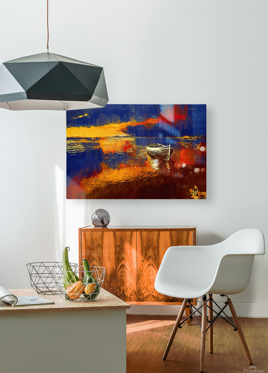 WOC G 001 Connemara  HD Metal print with Floating Frame on Back