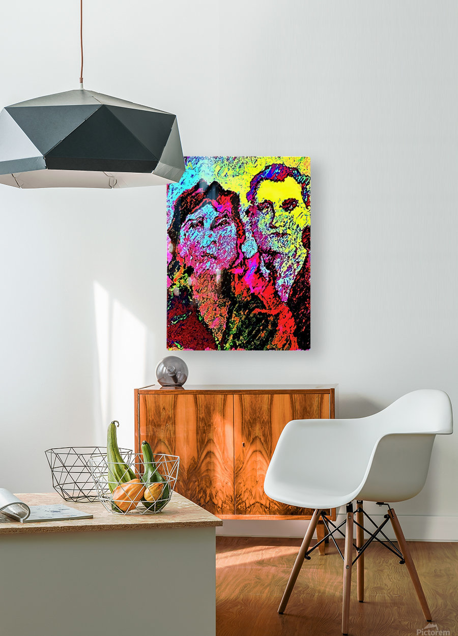 The Happily Married Couple  - by Neil Gairn Adams   HD Metal print with Floating Frame on Back