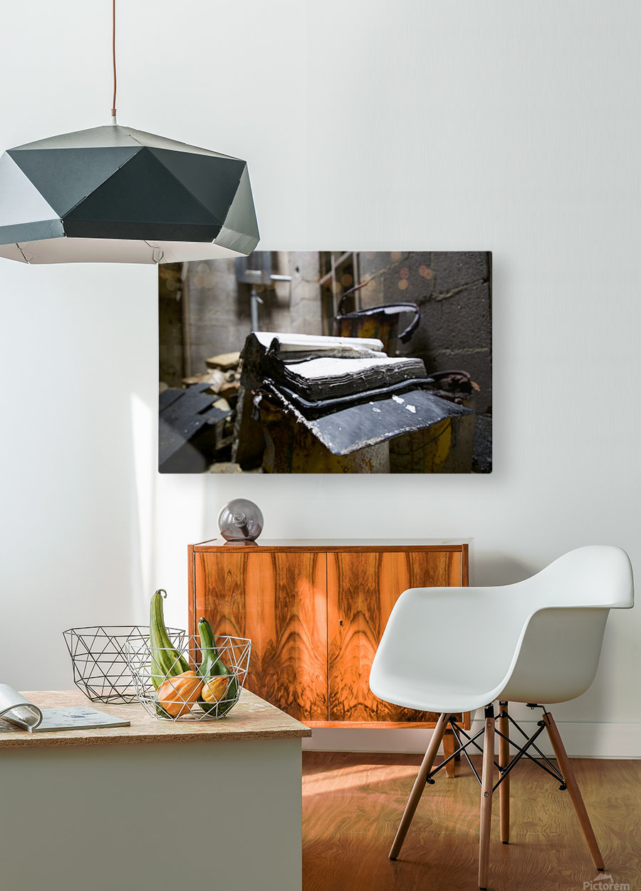 Abandoned Book  HD Metal print with Floating Frame on Back