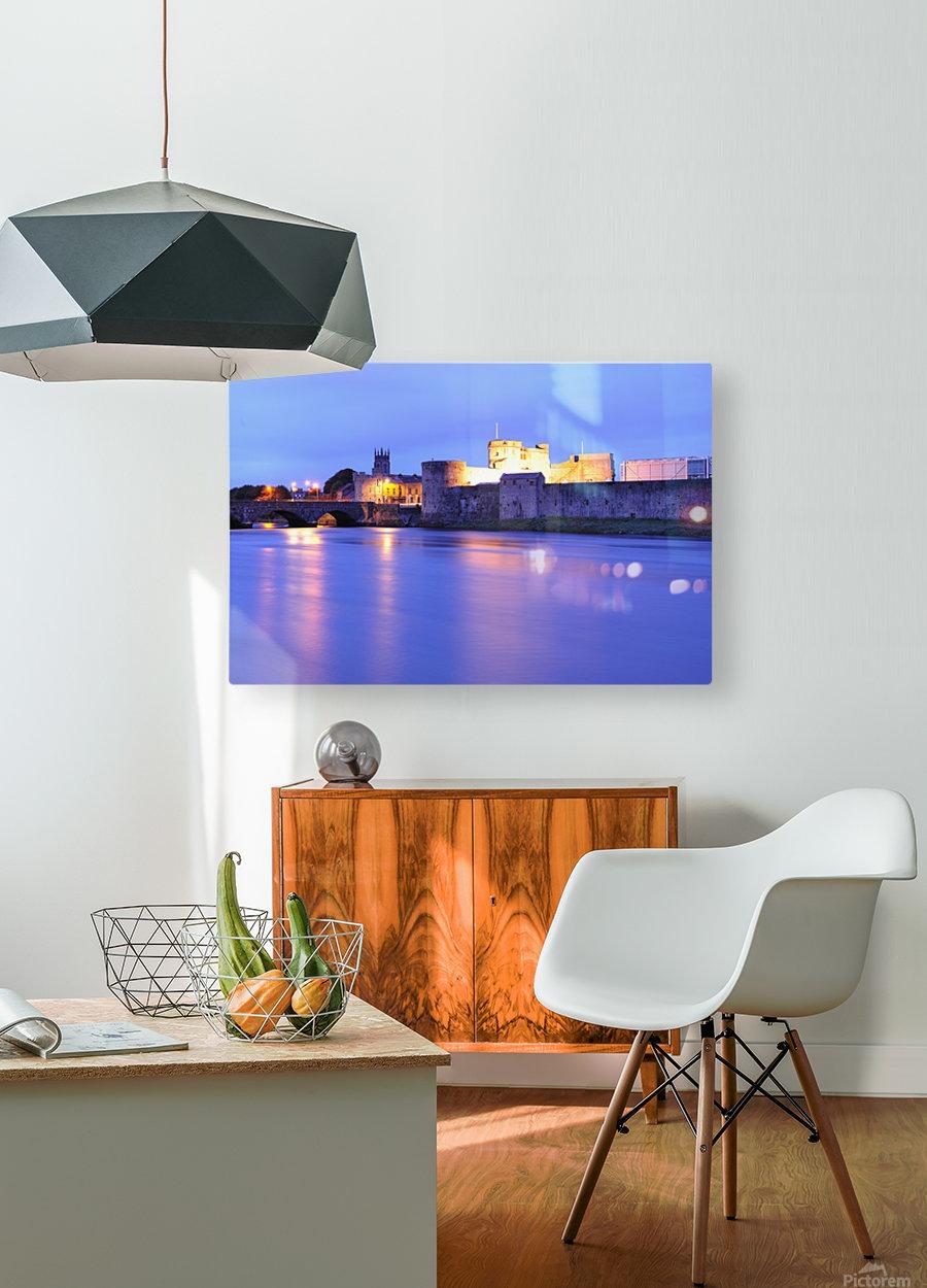 LK 016 King Johns Castle  HD Metal print with Floating Frame on Back