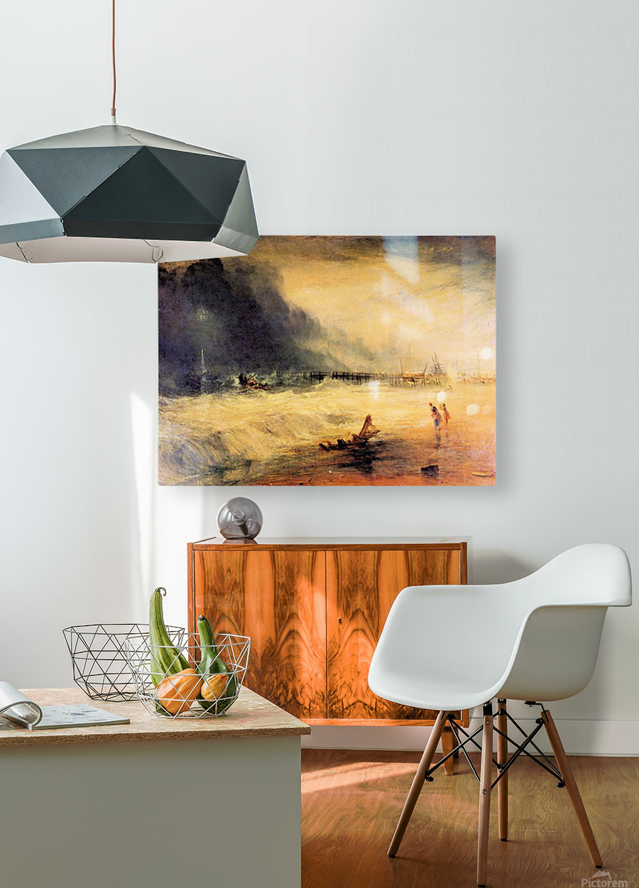 Stranded ship by Joseph Mallord Turner  HD Metal print with Floating Frame on Back