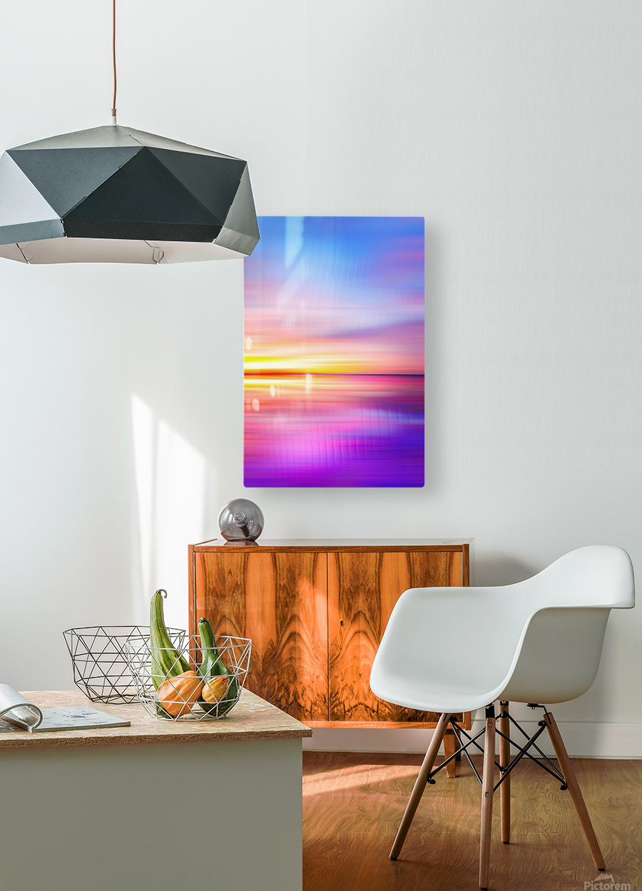 Abstract Sunset VII  HD Metal print with Floating Frame on Back